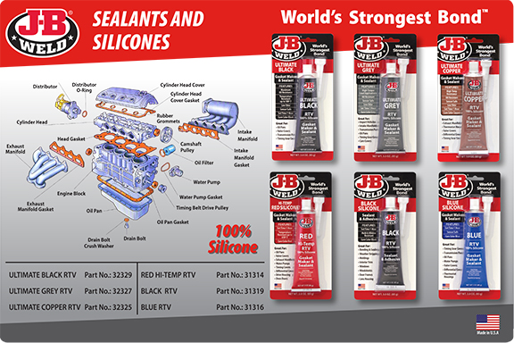 JB Weld sealers and silicones web